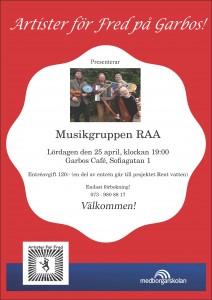 Musikgruppen RAA 25 april 2015