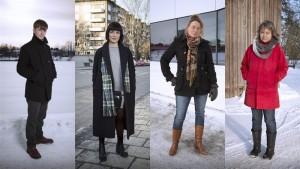 Olov Antonsson, Maya Abdullah, Liselott Holm och Agneta Johansson. Foto: Micke Grönberg/Sveriges Radio